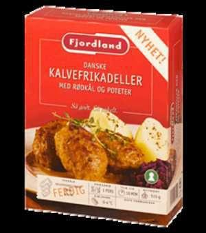 Bilde av Fjordland Danske kalvefrikadeller med rødkål og poteter.