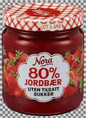 Prøv også Nora Jordbærsyltetøy uten tilsatt sukker.