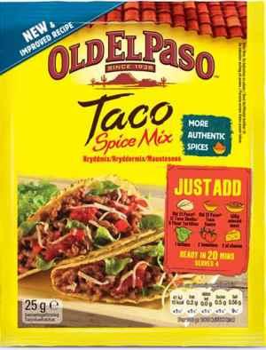 Prøv også Old el paso Taco Spice Mix.