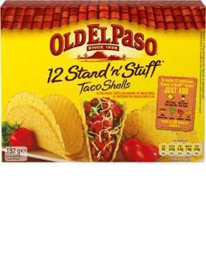 Bilde av Old El Paso Stand 'n' Stuff Taco Shells.