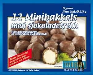 Bilde av Van Diermen Minibakkels med sjokoladetrekk.