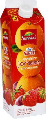 Bilde av Tine Sunniva Original Appelsin og Jordbær.