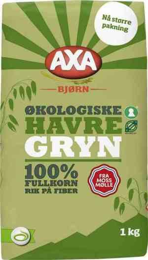 Prøv også Axa Bjørn havregryn økologisk.