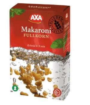 Prøv også AXA Makaroni fullkorn.