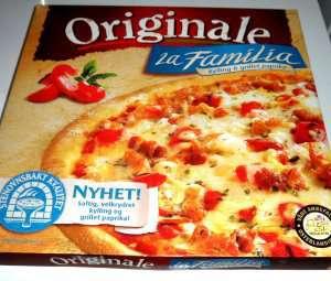 Bilde av Pizza Originale LaFamilia kylling.