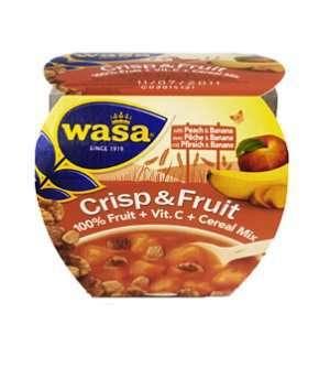 Prøv også Wasa Crisp & Fruit fersken og banan.