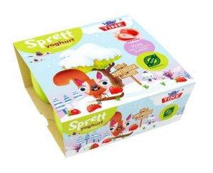 Bilde av Tine sprett yoghurt mini jordbær økologisk.