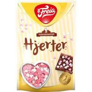Prøv også Freia hjerteformet sukkerstrøssel.