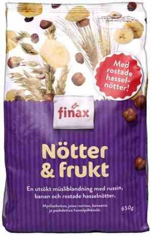 Prøv også Finax nøtter og frukt musli.