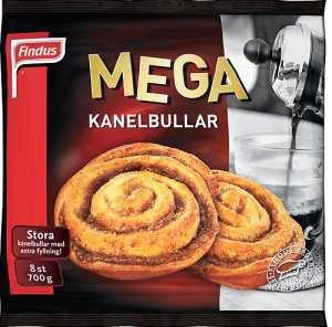 Prøv også Findus Mega Kanelboller.