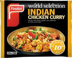 Prøv også Findus indian Chicken Curry.