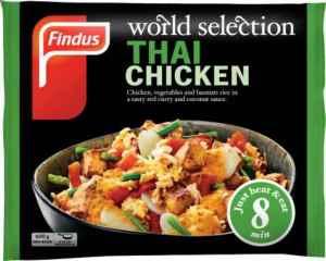 Prøv også Findus Thai Chicken.
