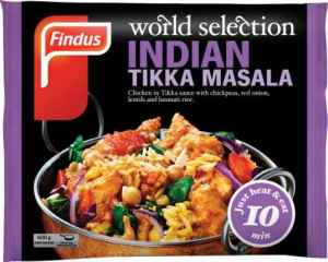 Prøv også Findus indian Tikka Masala.