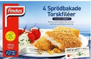 Prøv også Findus 4 Sprödbakade Torskfiléer.