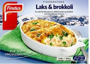 Prøv også Findus Laks & Brokkoli Fiskegrateng.