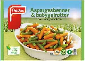 Prøv også Findus Aspargesbønner & Babygulrøtter.