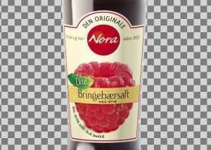 Prøv også Nora bringebær og druesaft.