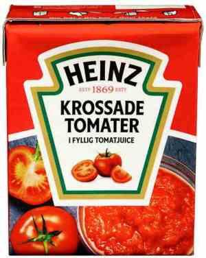 Prøv også Heinz Hakkede Tomater.
