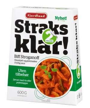 Prøv også Fjordland straks klar biff stroganoff.