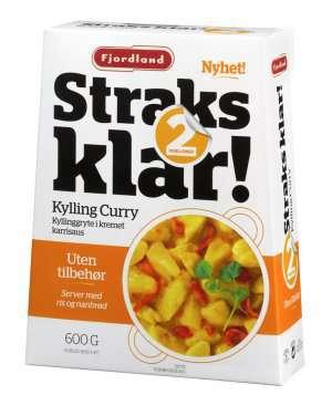 Bilde av Fjordland straks klar kylling curry.