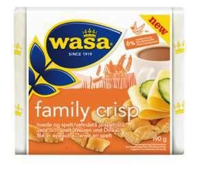 Prøv også Wasa Family Crisp hvete og spelt.