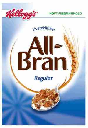 Prøv også Kelloggs all bran regular.