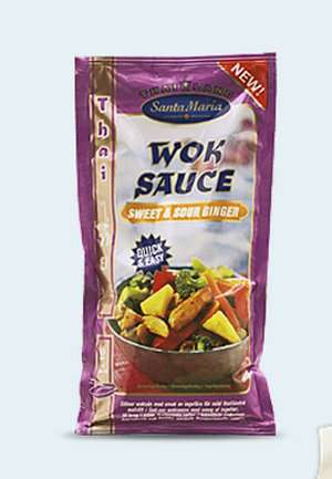Bilde av Santa Maria Sweet and Sour Ginger Wok Sauce.