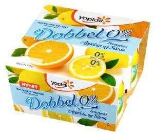 Prøv også Yoplait Dobbel 0% appelsin.
