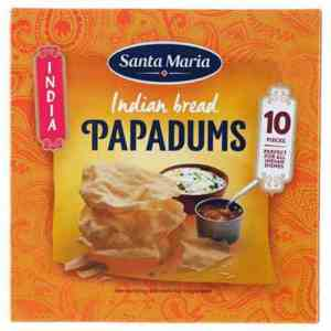 Prøv også Santa Maria Papadums.