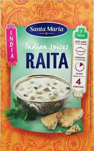 Prøv også Santa Maria Raita Spice Mix.