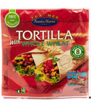 Bilde av Santa maria Whole Wheat Tortilla.