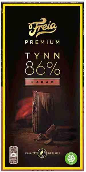 Prøv også Freia Premium 86% Kakao.