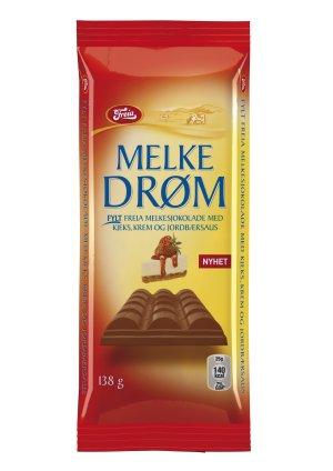 Prøv også Freia Melkedrøm med Krem og Jordbærsaus.