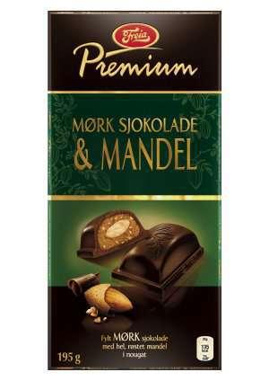 Bilde av Freia Premium Mørk Sjokolade & Mandel.