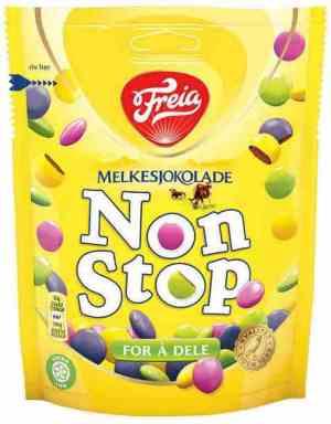 Prøv også Freia Non Stop Melkesjokolade.