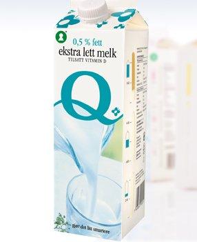 Bilde av Lettmelk, 0,5-0,7 % fett, med vitamin D, uspesifisert.