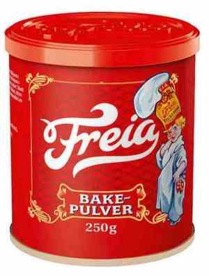 Prøv også Freia Bakepulver.
