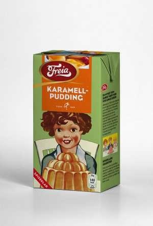 Bilde av Freia karamellpudding ferdig.