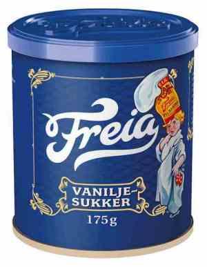 Prøv også Freia vaniljesukker.