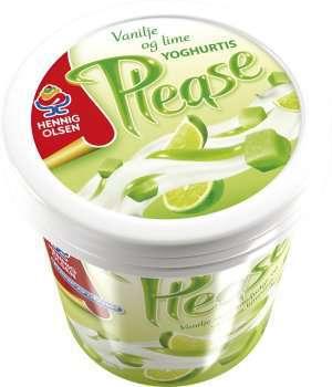 Prøv også Hennig Olsen please vanilje Lime.