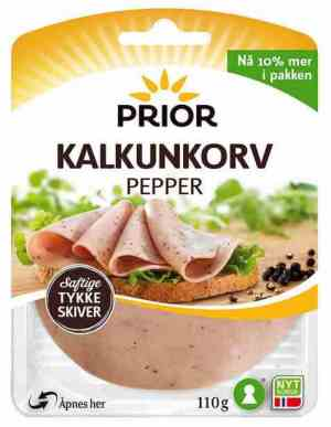 Prøv også Prior kalkunkorv med pepper skivet.