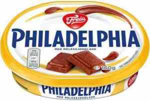 Prøv også Philadelphia med melkesjokolade.