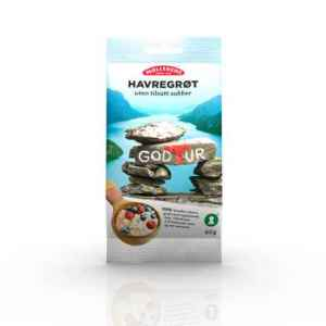 Prøv også Møllerens Havregrøt uten tilsatt sukker.