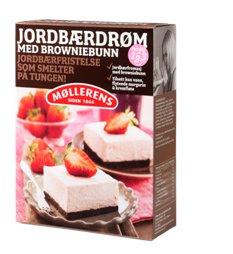 Bilde av Møllerens Jordbærdrøm med browniesbunn.
