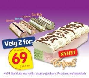Bilde av Isbilen dessertiskake med vanilje og cafe latte.
