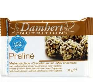 Bilde av Tagatose pralinésjokolade (hasselnøttfyll) 50 g.