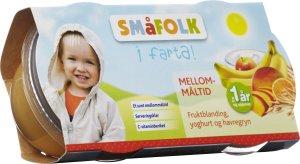 Prøv også Småfolk mellommåltid med fruktblanding, yoghurt og havregryn.