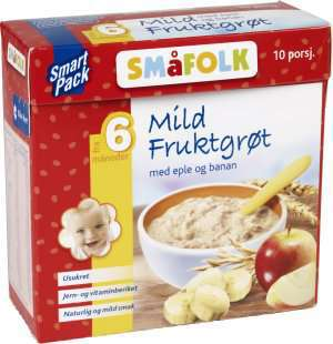 Prøv også Småfolk mild fruktgrøt med eple og banan.