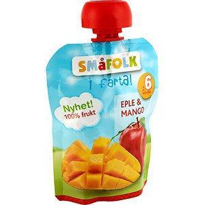 Prøv også Småfolk i farta eple og mango.