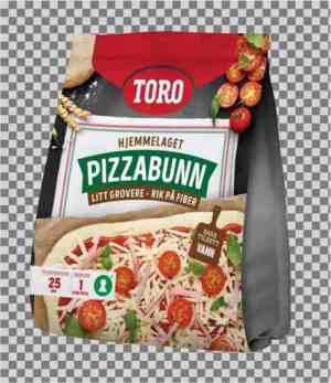 Prøv også Toro pizzabunn litt grovere.